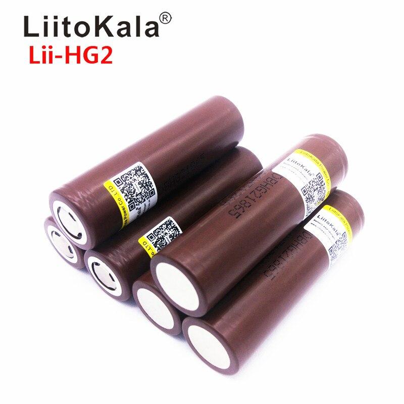 Горячая LiitoKala Lii HG2 18650 18650 3000 мАч Высокая мощность разряда аккумуляторная батарея Высокая разрядка, 30A большой ток|rechargeable battery|liitokala 18650liitokala battery | АлиЭкспресс