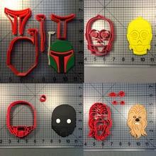 Star Wars Cookie Cutter Cake Decorating tools boba Darth-Vader Set Tools