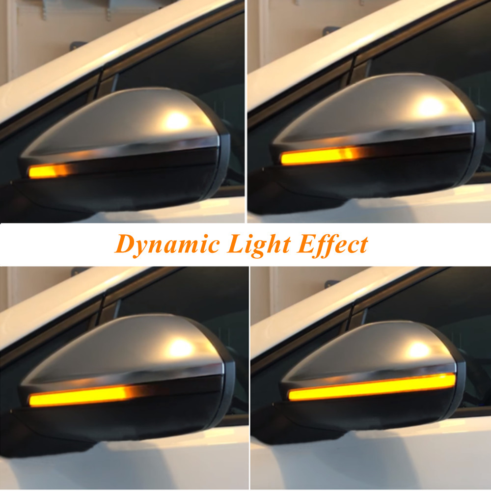 For VW Volkswagen Golf 7 VII MK7 Golf 7.5 GTI R Touran LED Dynamic Turn Signal Blinker Sequential Side Mirror Indicator Light-in Mirror & Covers from Automobiles & Motorcycles    1