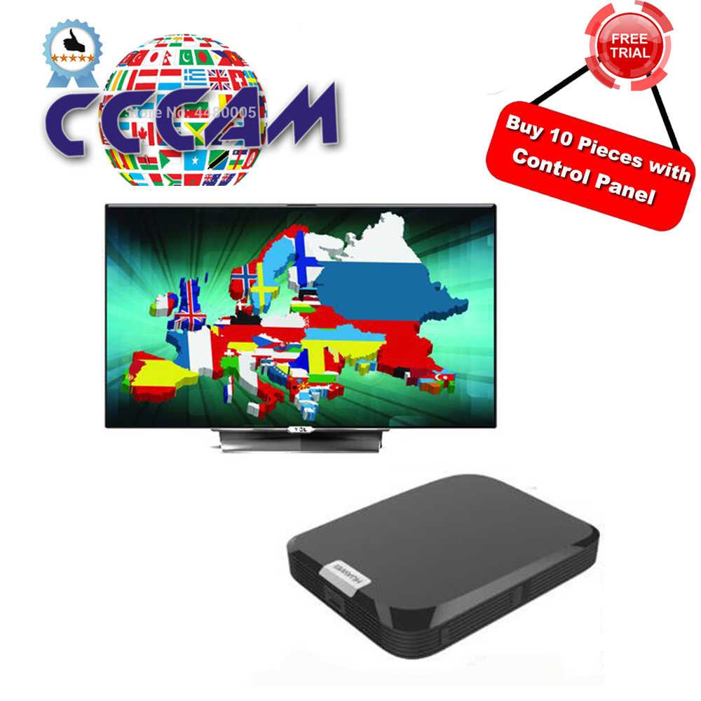 Serveur Cccam HD Cccam Cline 1 an pour l'europe DVB-S2 récepteur Satellite HD 1 an Cccam pour l'espagne portugal allemagne royaume-uni pologne