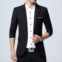 New Arrival Clothing Autumn Blazer Men Fashion Slim Male Suits Business Solid Masculine Blazer Cotton Slim Fit Men Blazer