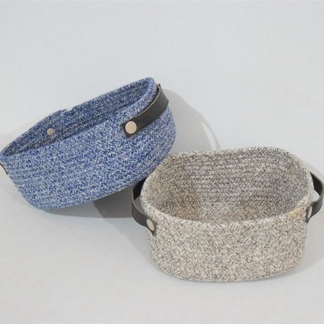 2 Colors Cotton Linen Storage Basket Keys Stationery Sundries Holder  Desktop Organizer Decoration Kid Toys Barrel