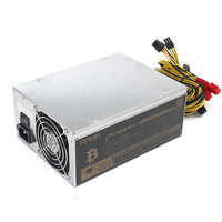 1800W Antminer Mining Machine Power Supply For Eth Bitcoin Miner Antminer S7 S9 90 Gold Aluminum