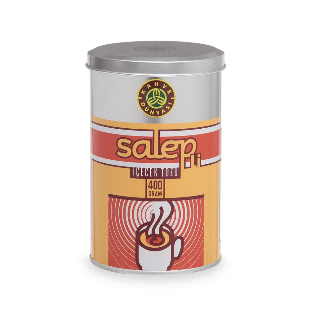 Coffee World Kahve Dunyasi Salep Tin Box 400 gr 14.1 oz Sahlep Sahlab image