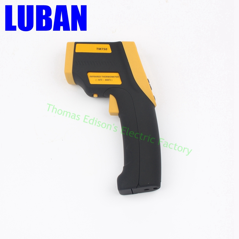 Tecman genuine TM750 Handheld infrared thermometer non contact thermometer temperature gun -50C~800C Temperature measurement  цены