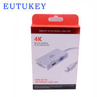 Alta calidad 4 K Mini DisplayPort DP a DVI VGA HDMI convertidor cable adaptador para IMac Mac mini MacBook Pro A Monitores TV