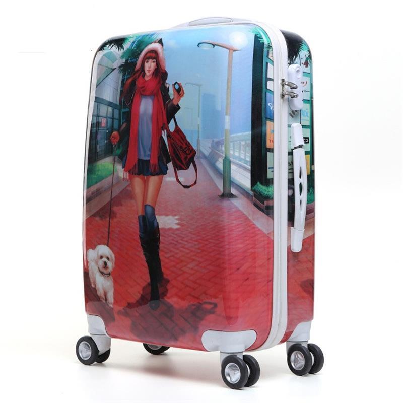 Bavul Valise Enfant Mala Traveling Bag With Wheels Koffer Colorful Maleta Trolley Valiz Carro Luggage Suitcase 20