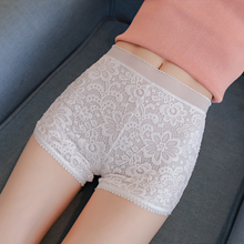 New Woman Safety Short Pants White Lace Hollow Summer Solid Color Sexy Plus Size