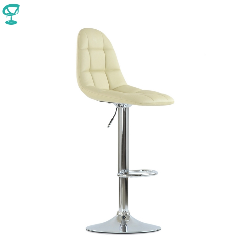 N96CrPuBeige Barneo N-96 PU Leather Kitchen Breakfast Bar Stool Swivel Bar Chair Beige Color Free Shipping In Russia