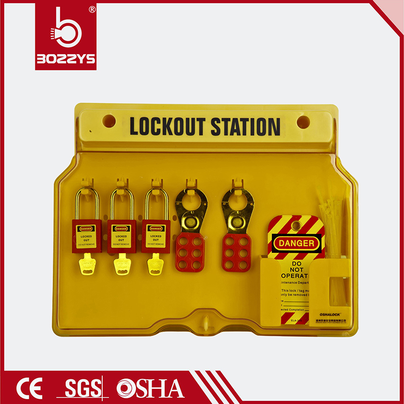 5 Locks Padlock Safety Lockout Station Tagout Management Station lock board Bulk Customized Combination Portable Tagout Lock