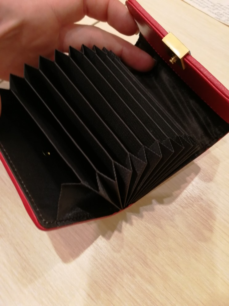 Genuine Leather Women Card Wallet Houndstooth Cow Split Fashion Ladies Bussiness Credit Card Holder Coin Bag Small Money Purse photo review