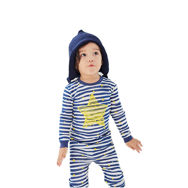 43c3cf8de52 Kids Boys Girls Cotton Clothes Sets Age 3 4 5 6 7 8 Years Old Kids Long  Sleeve Tshirt + Trouser Stripe Star Boys Girls Clothing
