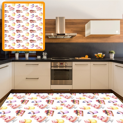 Else Yellow Brown Pink Cakes Sweet Candy 3d Pattern Print Non Slip Microfiber Kitchen Modern Decorative Washable Area Rug Mat