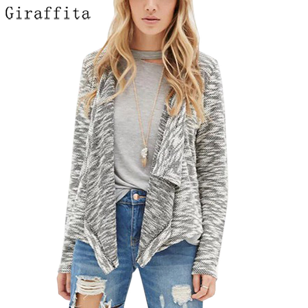 Giraffita Springand Autumn Fashion Women Cardigan Sweater 2017 Casual Knitted Cardigan Sweater Women