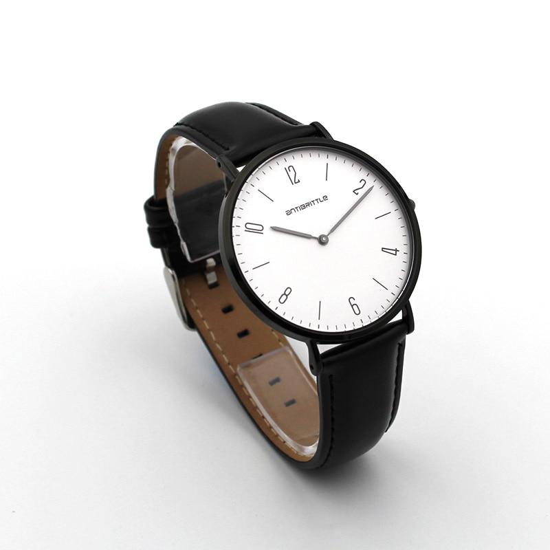 Luksusowe zegarki kwarcowe damskie Super cienkie czarne skórzane - Zegarki damskie - Zdjęcie 3