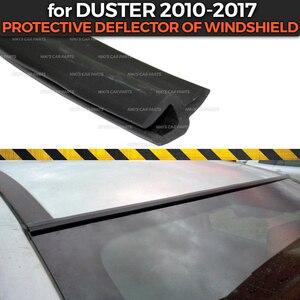 Image 1 - מגן מטה הטיה עבור רנו הדאסטר 2010 2017 של שמשה קדמית גומי הגנה אווירודינמי רכב סטיילינג כיסוי כרית אבזרים