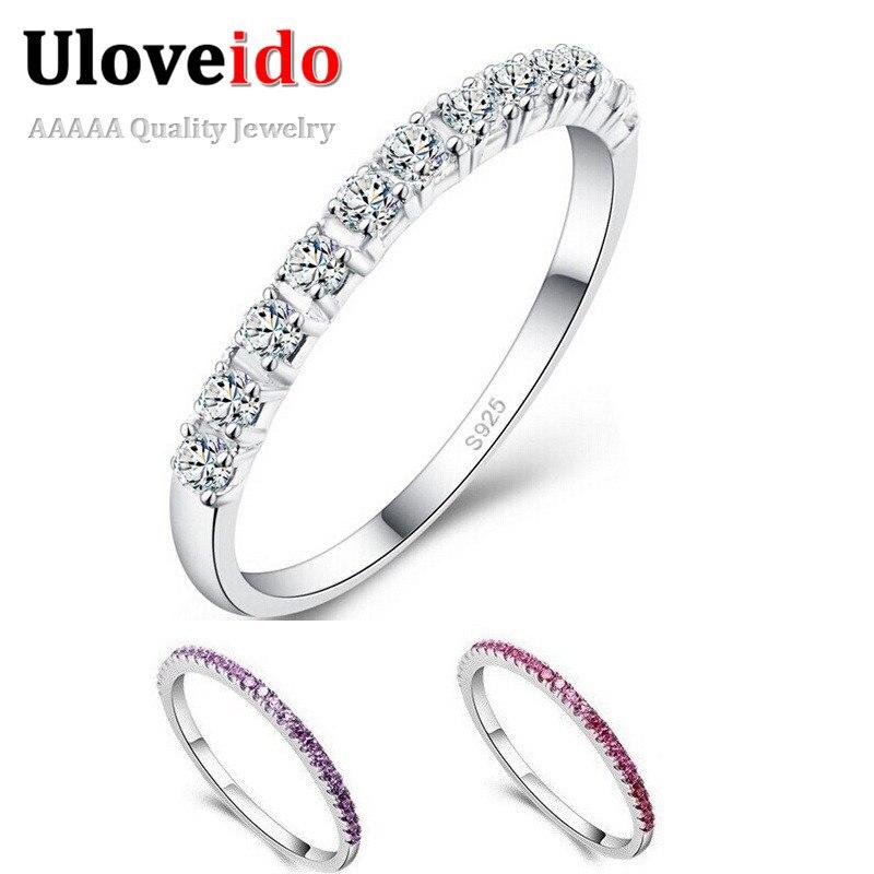 Fashion Jewelry 925 Silver Zircon Anneau Cadeau De Mariage Pour Hommes Et Femmes Réglable