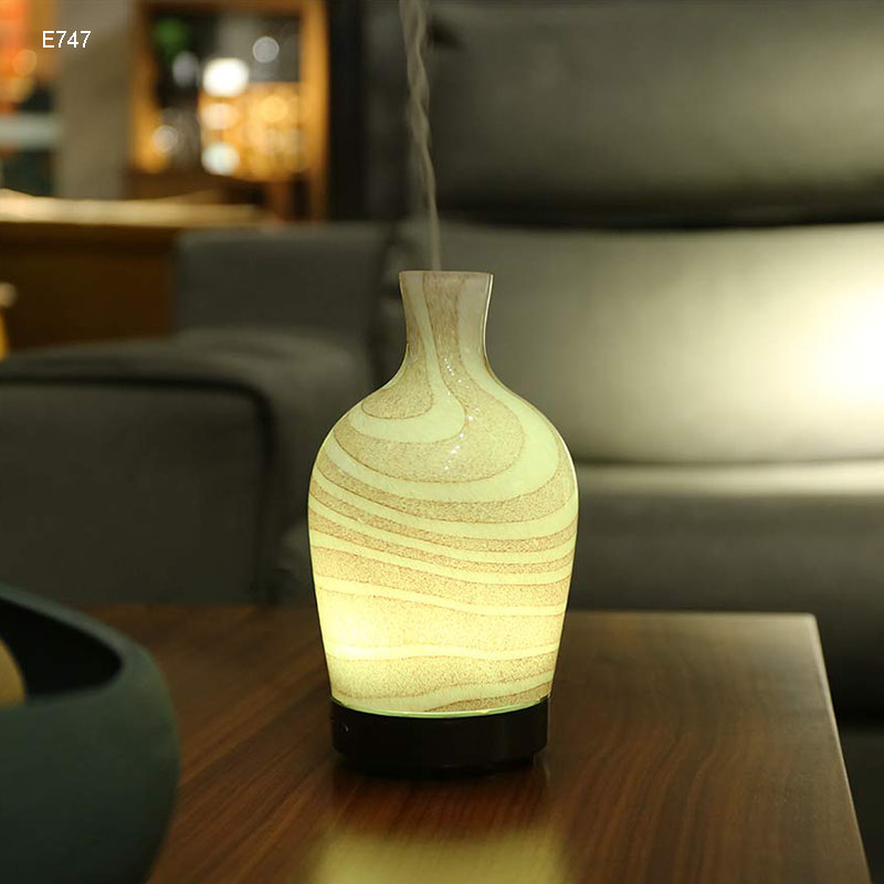 COOSA 3D Glass LED Light Essential Oil Diffuser 100ml Ultrasonic Air Humidifier Aroma Diffuser 7 Color Change Mist Humidifier in Humidifiers from Home Appliances