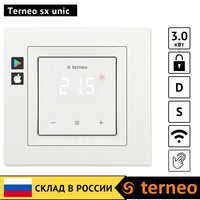 Terneo sx unic-thermostat d'écran tactile pour chauffage par le sol avec WiFi et un capteur de sol pour thermorégulateur (cadre Unica