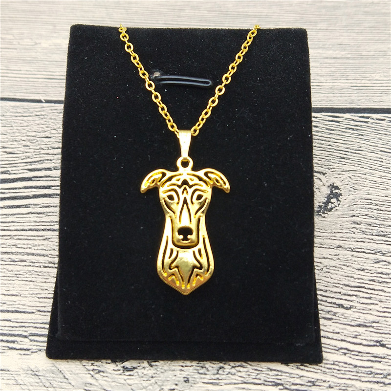 New Greyhound Necklace Trendy Style Greyhound Pendant Necklace Women Pet Jewellery Fashion Animal Dog Jewellery