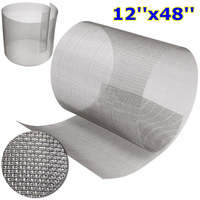 12x48Inch Stainless Steel 316 Cloth Filtration Woven Wire Screen 10 Mesh