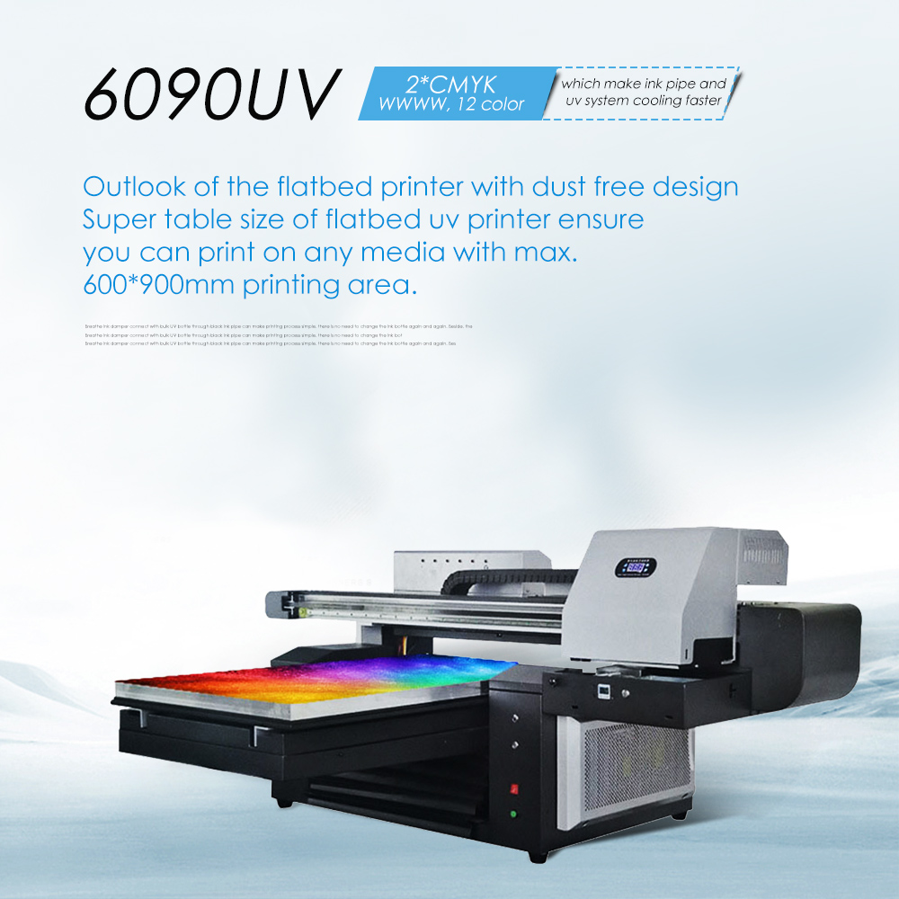 Hell Neue 6090 Uv Drucker Pritsche Drucker 12 Farben 600x900mm Große Format Multifunktions Digitale Inkjet 3d Keramik Uv Drucker 2019 New Fashion Style Online