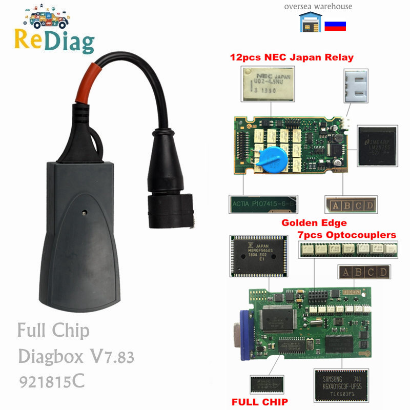 Full Chips Lexia3 PP2000 OBD2 Professional Diagnostic Tool Diagbox V7.82 Firmware 9218165C For Citroen/Peugeot Lexia V48/V25