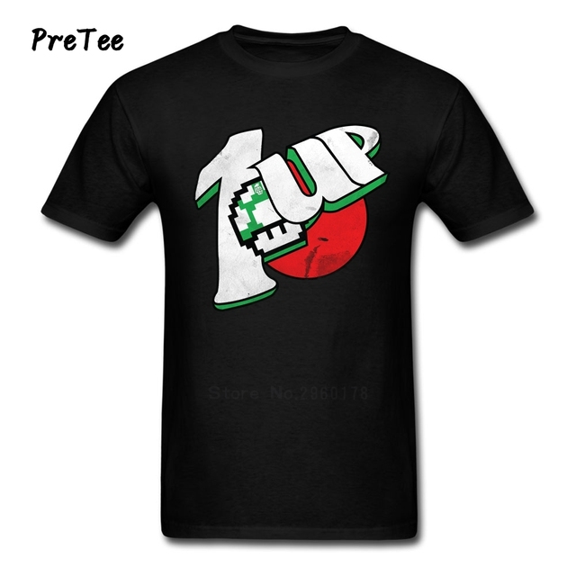 Super Mario 1 UP AS Spot 7 UP T-Shirt (11 Colors)