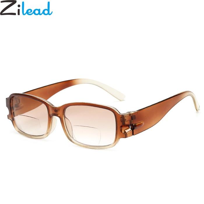 Zilead Fashion Comfort Reading Glasses Brand Simple Multifunction Bifocal Lenses Women&Men Presbyopic Glasses Plain Eyeglasses