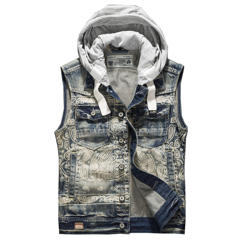 2018 Men's Spring And Autumn Small Slim Denim Vest Summer Denim Vests Sleeveless Denim Jacket Men Vintage Waistcoat Jeans Vest High Safety