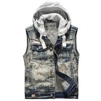 2018 Men's spring and autumn small slim denim vest summer denim vests sleeveless denim jacket men vintage waistcoat Jeans Vest