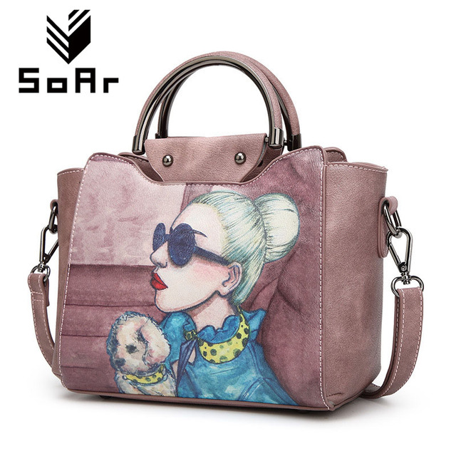 Soar New Arrival Designer Bags Famous Brand Women 2017 High Quality Leather Luxury Handbags