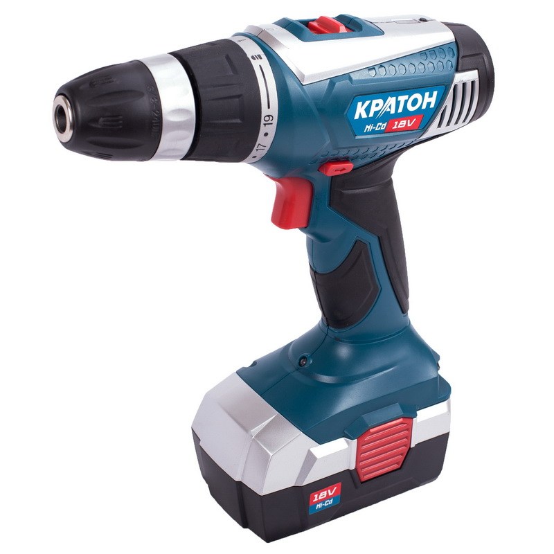 Drill-screwdriver rechargeable KRATON CD-18-K cordless drill screwdriver kraton cd 14 k