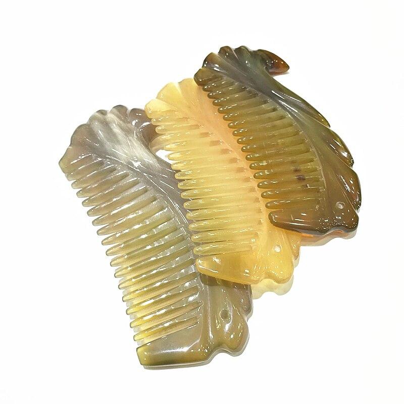 chifre pente de cabelo bolso pente