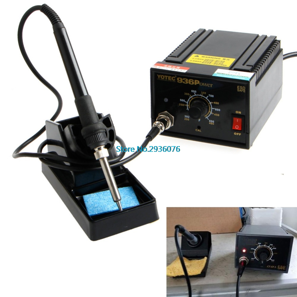 936 Power Electric Soldering Station SMD Rework Welding Iron 110V 220V hakko 936 soldering station 936 soldering iron handpiece plug type port holder fast heating soldering rework station