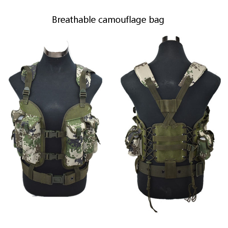 CS Tactical Vests Detachable Protection Armor Military Combat Assault Plate Carrier Vest Hunter Hunting Waistcoat Colete Tatico-in Hiking Vests from Sports & Entertainment    2