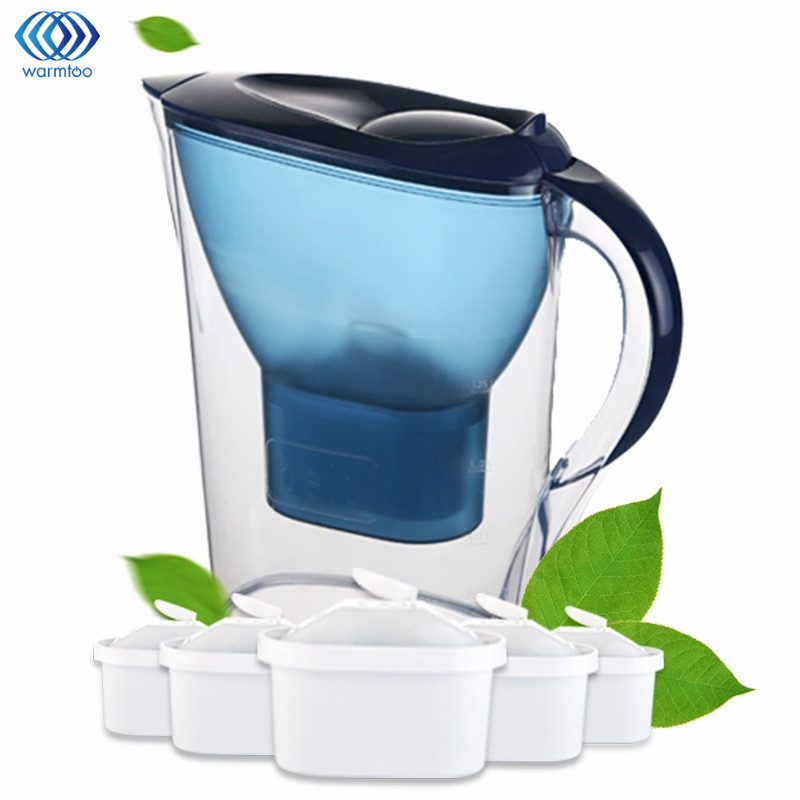 Household Water Filter Kettle Straight Drink Alkaline Water Pitcher Jug Bottle Kitchen Water Purifier Pot Filters Pot 2.5L