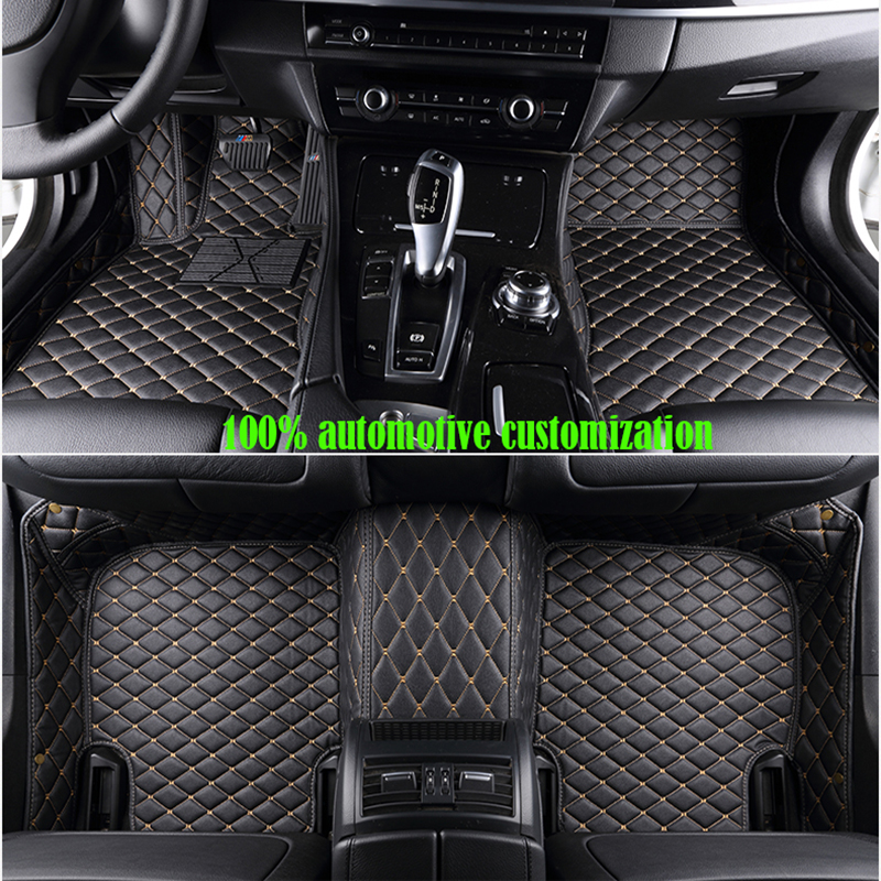 custom made Car floor mats for Volkswagen vw passat b5 6 polo golf tiguan jetta touran touareg Auto accessories auto styling fit for volkswagen vw tiguan rear trunk scuff plate stainless steel 2010 2011 2012 2013 tiguan car styling auto accessories