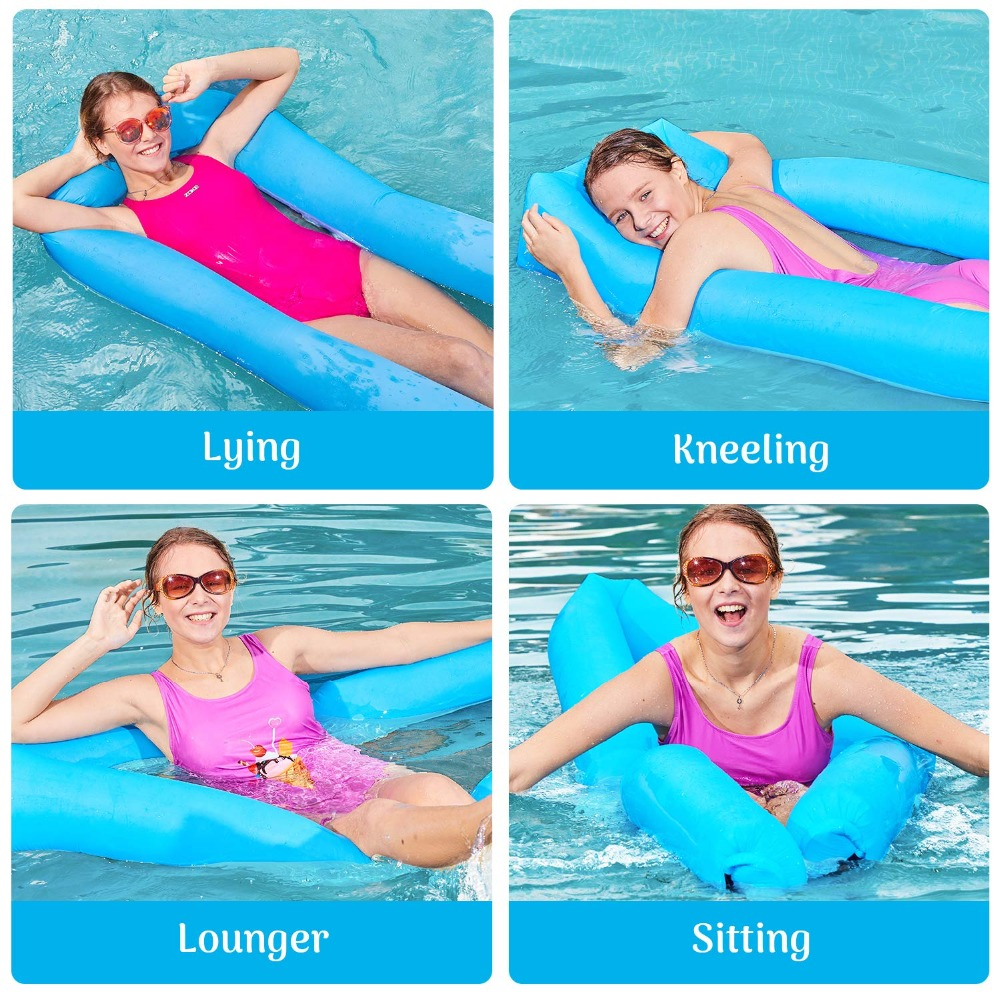 Inflatable Pool Swimming Portable Floating Lounger Chair Water Hammock Beach Camping Sofa Bed Water Lounge for Adults & Kids