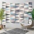 Sonst Grau Blau Dreiecke Geometrische Nordec Vintage 3D Druck Dekorative Hippi Böhmischen Wand Hängen Landschaft Wandteppich Kunst-in Dekorative Wandteppiche aus Heim und Garten bei