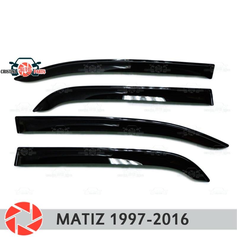 цена на Window deflector for Daewoo Matiz 1997-2018 rain deflector dirt protection car styling decoration accessories molding