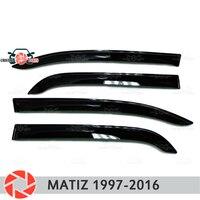 Window deflector for Daewoo Matiz 1997-2018 rain deflector dirt protection car styling decoration accessories molding
