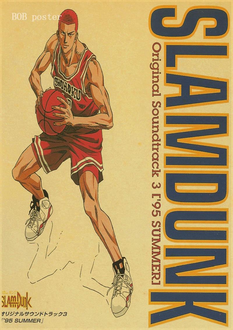 Aliexpress.com : Buy SLAM DUNK Classic Anime poster retro kraft wall ...