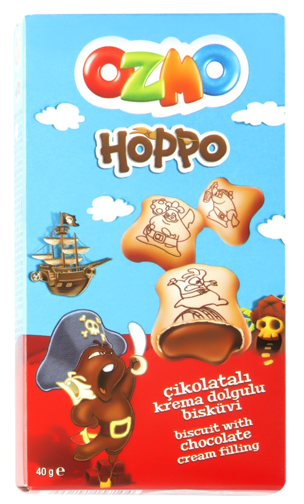 SOLEN OZMO HOPPO CHOCOLATE BISCUITS 40GR (12 PCS) FROM TURKEY