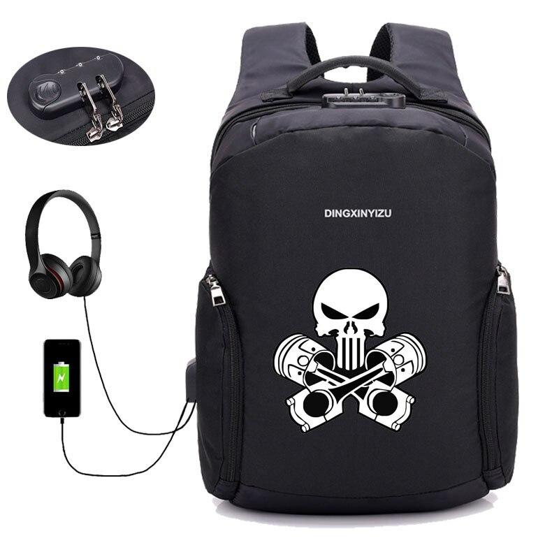 Sacs à dos antivol USB Charge sac à dos Deadpool sac à dos ordinateur portable femmes hommes homme sac à dos de voyage - 5