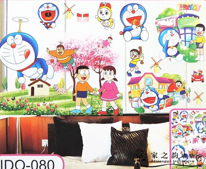 3D Cartoon Doraemon girl Wall Sticker Home Decoration Wall Decals For Kids Rooms Gift Kindergarten Livingroom Wallpaper poster