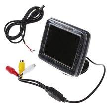 2017New LCD TFT Da 3.5 Pollici Dello Schermo Monitor Macchina Fotografica di Inverso Dell'automobile di Retrovisione di Backup JUN16