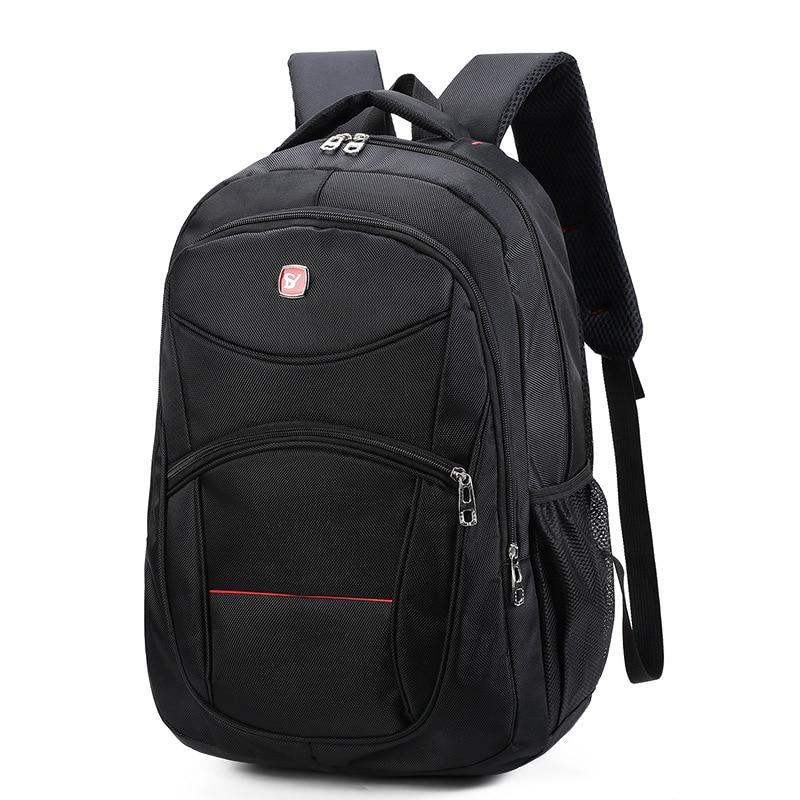 17 Inch Men Travel Black Waterproof School Fashion Nylon Charging Business Backpack Boy Waterproof Laptop Bag  Mochila Escolar