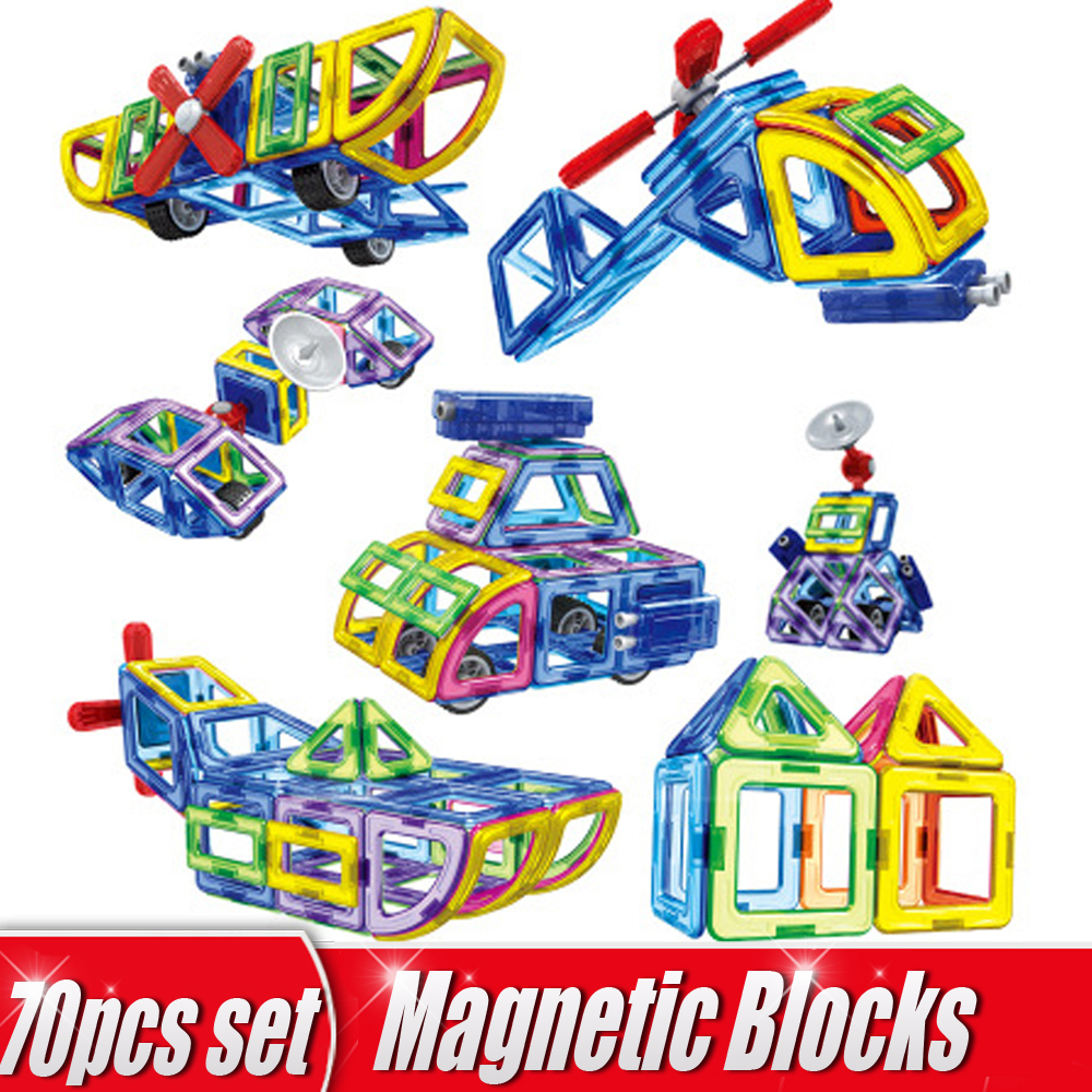 70pcs Set 3D Magnetic Designer Construction Set Magnetic Building Blocks DIY Educational Children Toys for Gifts hot sale 1000g dynamic amazing diy educational toys no mess indoor magic play sand children toys mars space sand