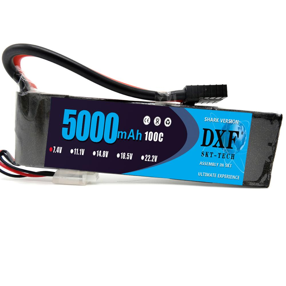 DXF Graphene 2S Lipo Battery 7.4V 5000mAh 100C Max 200C High Discharger Rate For Car Helicopter Quadcopter Truck BoatDXF Graphene 2S Lipo Battery 7.4V 5000mAh 100C Max 200C High Discharger Rate For Car Helicopter Quadcopter Truck Boat